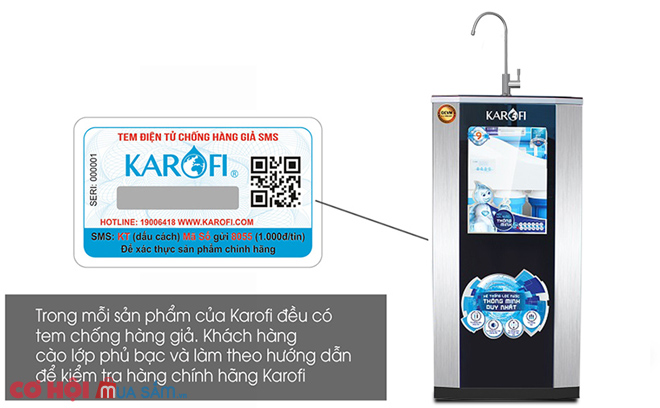 Máy lọc nước RO KAROFI ERO ERO80 (8 cấp lọc)