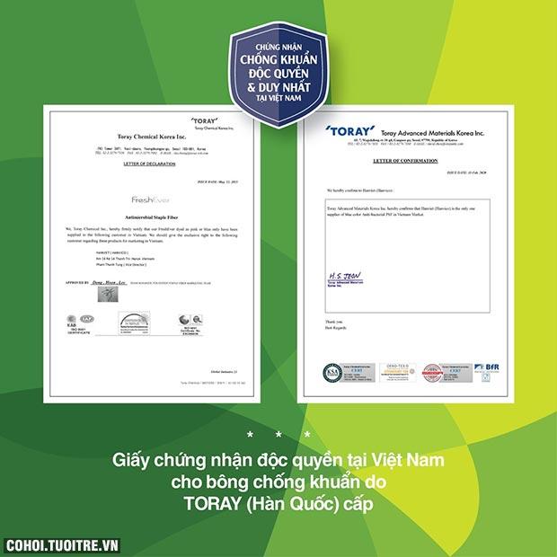 Khẩu trang kháng khuẩn NANO bạc HANVICO KIDS (bộ 2 chiếc)