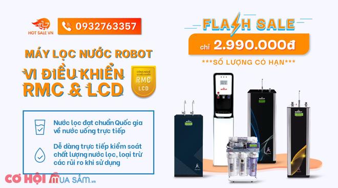 Máy lọc nước ROBOT, chuẩn nước uống trực tiếp, vi điều khiển RMC - LCD