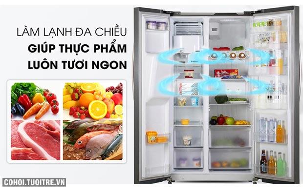 Tủ lạnh Side by Side 2 cánh KAFF KF-SBS600BWT
