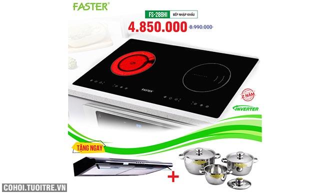 Xả kho bếp từ đôi hồng ngoại FASTER FS-288HI chỉ từ 2.950.000đ
