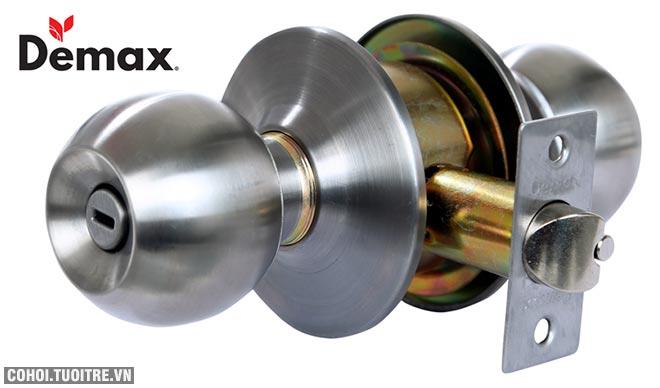 Khóa tay nắm tròn WC (nhà vệ sinh) Demax LK300 SS
