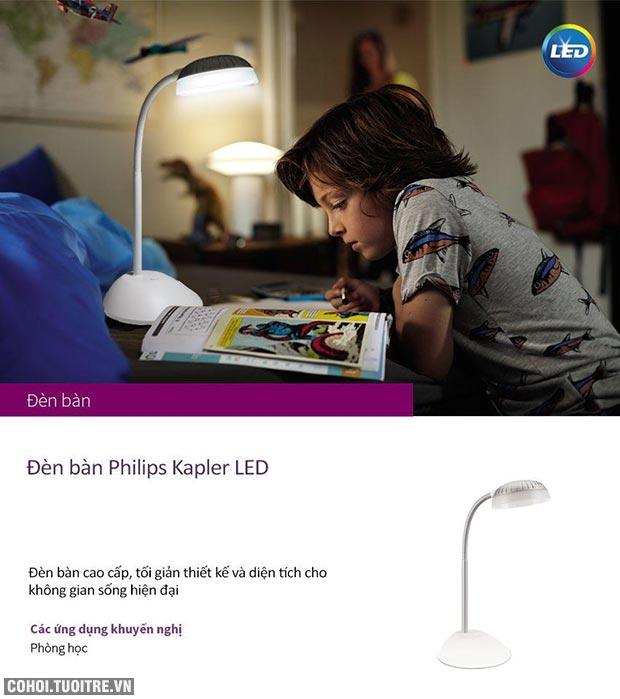 Đèn bàn, đèn học chống cận Philips LED Kapler 66027 4.6W