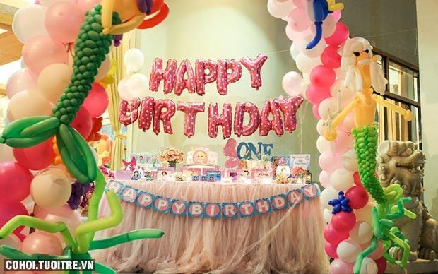Trang trí sinh nhật cho bé 1 tuổi