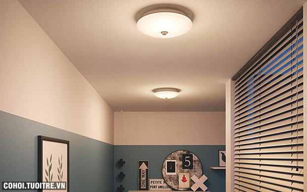 Đèn ốp trần Philips 62233 Danta 65K/27K Sensor LED 6W