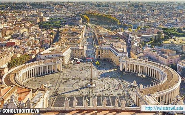 Du lịch Thụy Sĩ, Ý, Vatican