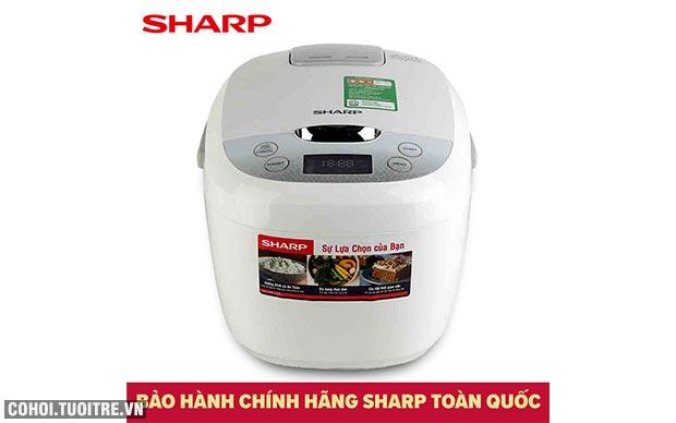 Xả kho nồi cơm điện tử Sharp KS-COM186EV-GL giá từ 985 ngàn