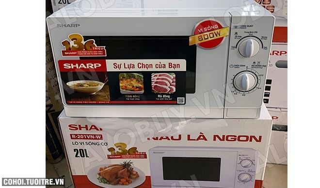 Xả kho lò vi sóng Sharp R-201VN-W giá từ 995 ngàn