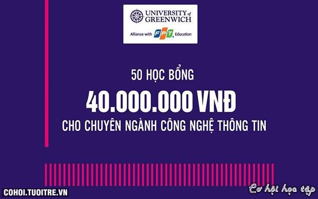 Học bổng 40 triệu ngành CNTT cho thí sinh đạt 25 điểm