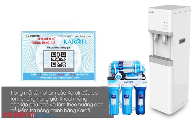 Máy lọc nước RO nóng lạnh 2 vòi KAROFI HCV200RO
