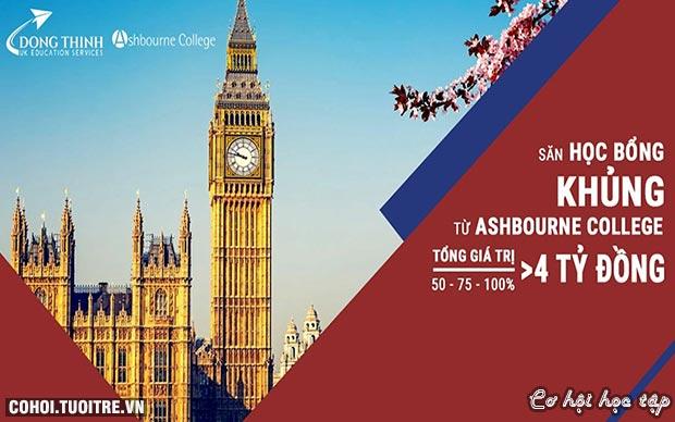 Du học Anh với Kỳ thi học bổng 100% của Ashbourne College