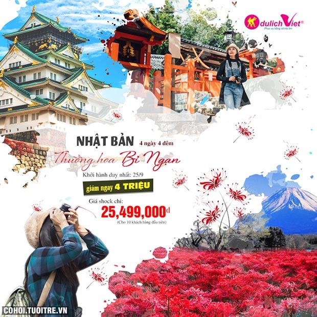 Cùng Du Lịch Việt vi vu Nhật Bản ngắm hoa bỉ ngạn