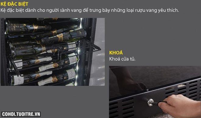 Tủ rượu Kadeka KS140TL chính hãng