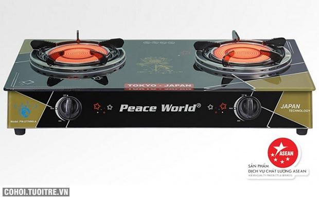 Bếp gas hồng ngoại Peaceworld tiết kiệm 30% gas đang khuyến mãi