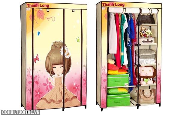Tủ vải đựng quần áo Thanh Long TVAI01