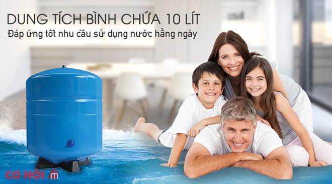 Máy lọc nước RO nóng lạnh 2 vòi SUNHOUSE SHR76210CK