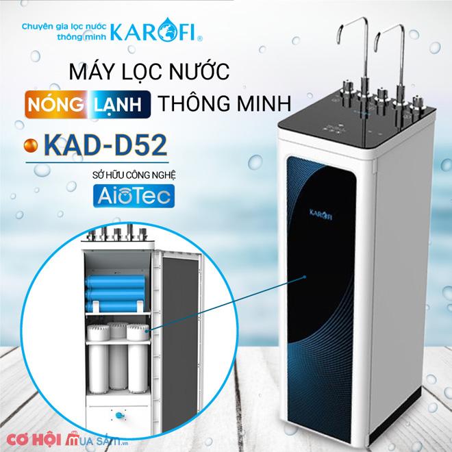 Máy lọc nước RO Nóng Lạnh 2 vòi KAROFI KAD-D52