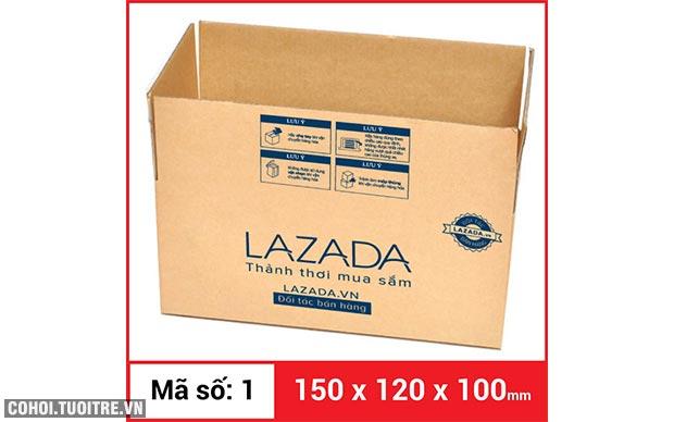 Thùng carton gói hàng kích thước 150 x 120 x 100mm