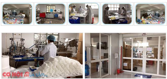 Khẩu trang y tế 3 lớp kháng khuẩn HAMITA, hộp 50 cái