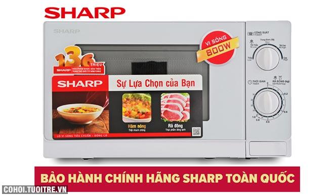 Lò vi ba Sharp R-201VN-W giá từ 995 ngàn