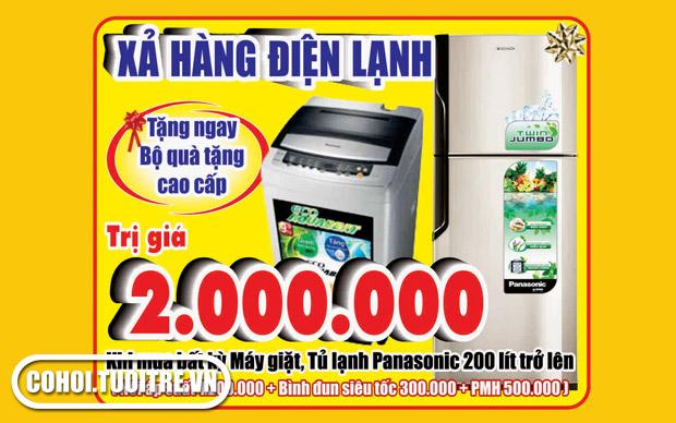 Quà tặng 2.000.000 đ khi mua Tủ lạnh, máy giặt SANYO, ELECTROLUX