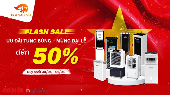 Máy lọc nước, máy làm mát Robot - Flash Sale đến 50%, duy nhất 30/04, 01/05