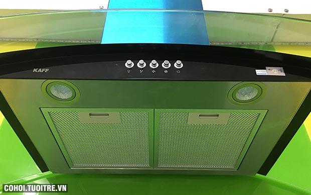 Máy hút mùi bếp 9 tấc kính cong KAFF KF-GB906