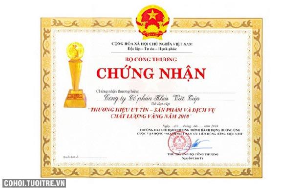Khóa cửa treo Việt Tiệp đồng bấm (Thần tài)