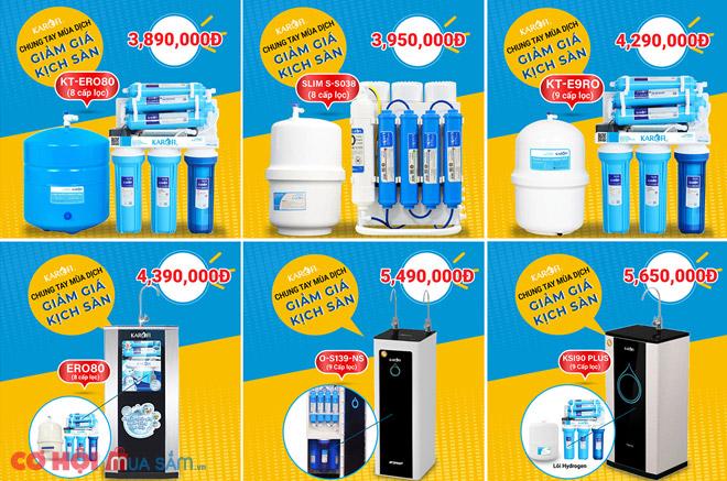 Thay đèn UV diệt khuẩn cho máy RO KAROFI