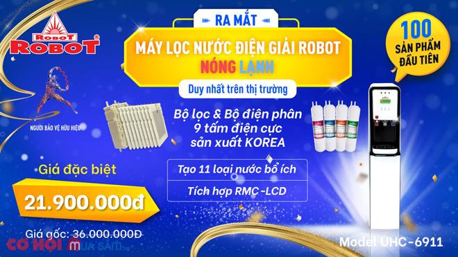 Máy lọc nước điện giải nóng lạnh, duy nhất ở ROBOT có gì mới