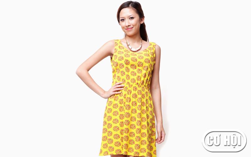 Đầm thun nữ vàng Zilandi