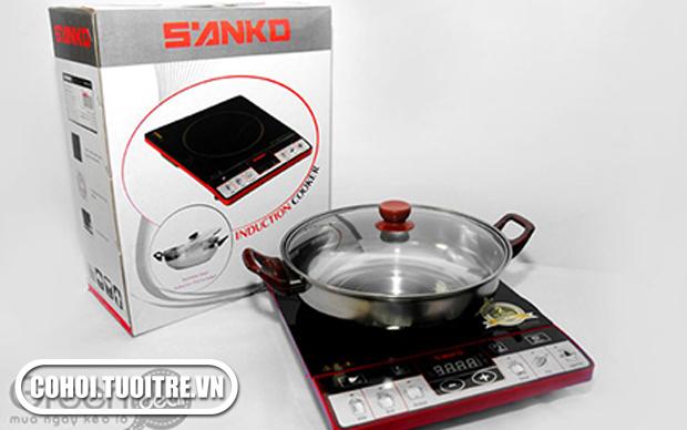 Ăn lẩu tiện hơn với bếp điện từ Sanko 7511R