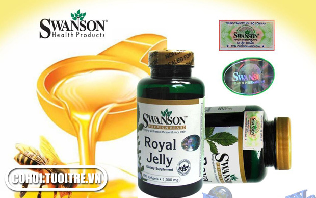 Sữa ong chúa - Swanson Royal Jelly 1000 mg